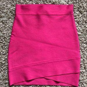 BCBG Bandage Mini Skirt pink S